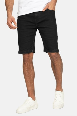 Threadbare Black Pryde Cotton Chino Shorts