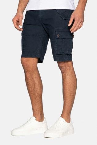 Threadbare Navy Core Cotton Cargo Shorts