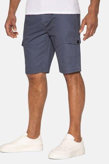 Threadbare Blue Hydro Cotton Cargo Shorts