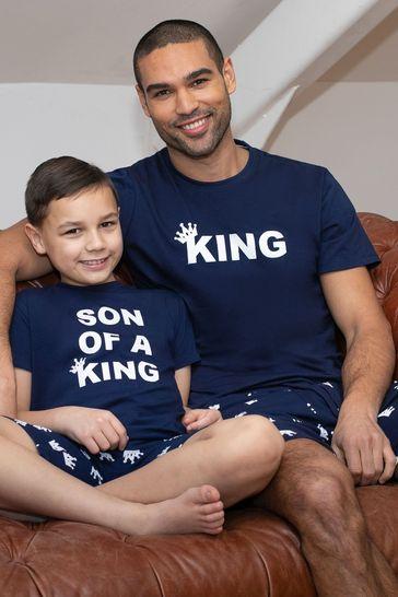 Threadbare Navy King Cotton Pyjama Set