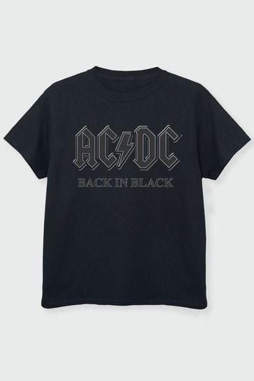 Brands In Black Back in Black Boys Black T-Shirt