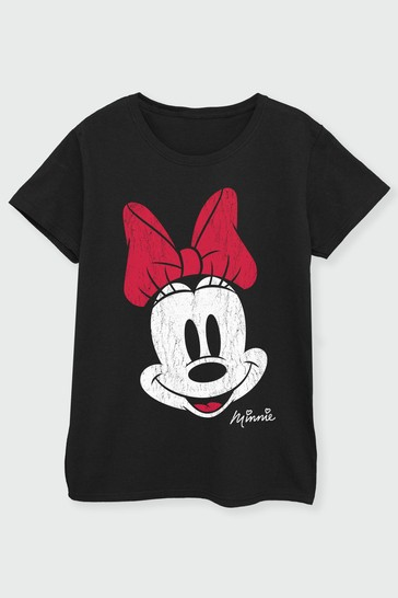 Brands In Black Minnie Mouse Womens T-Shirt by Disney