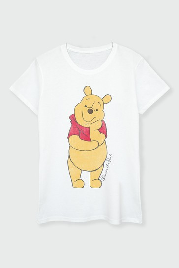 Brands In White Winnie The Pooh Womens T-Shirt by Disney