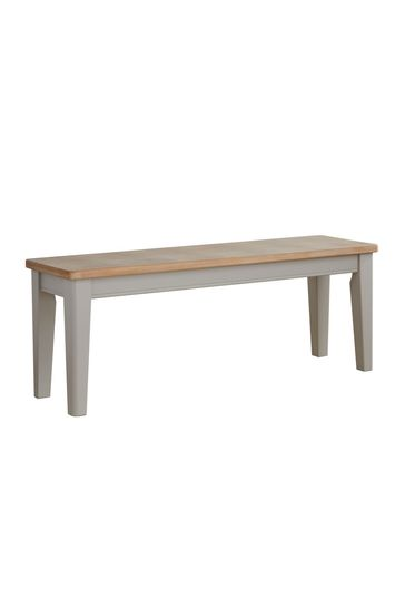 Kingston Rustic Pine and Grey Dining Bench By Lloyd Pascal