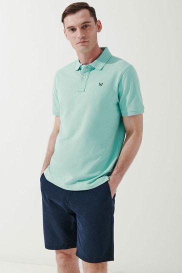 Crew Clothing Company Green Classic Pique Polo Shirt