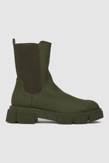 Schuh Dark Green Aniston Chunky Chelsea Boots
