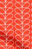 Orla Kiely Red Linear Stem Made To Measure Curtains
