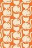 Orla Kiely Orange Callie Cat Made To Measure Roman Blind