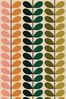 Orla Kiely Green Duo Stem Made To Measure Curtains