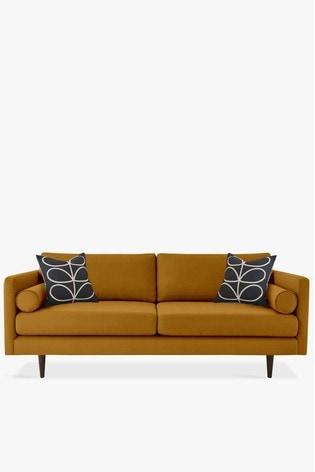 Orla Kiely Mimosa Large Sofa With Walnut Feet