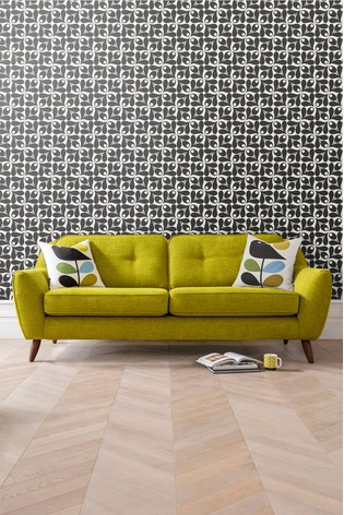 Orla Kiely Laurel Small Sofa with Walnut Feet
