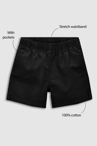 Black Rugby Shorts (3-16yrs)