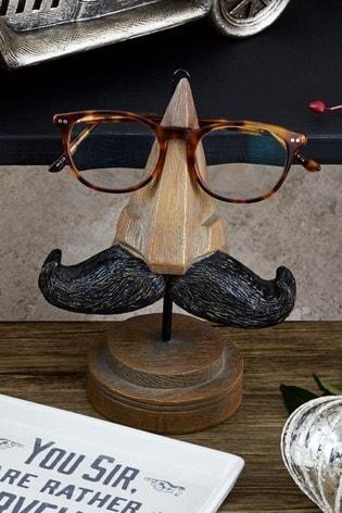 Brown Moustache Glasses Stand