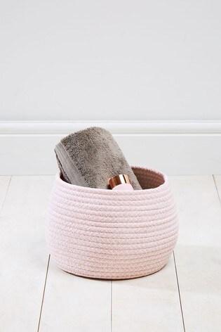 Herringbone Rope Storage Basket