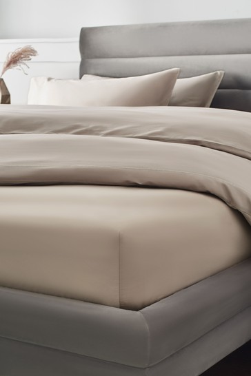 Mink Natural 300 Thread Count Collection Luxe Deep Fitted 100% Cotton Fitted Sheet