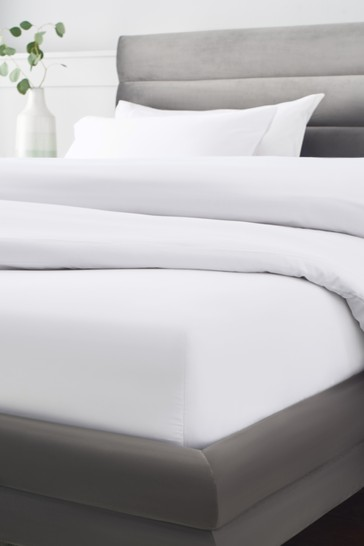 White 300 Thread Count Collection Luxe Deep Fitted 100% Cotton Fitted Sheet