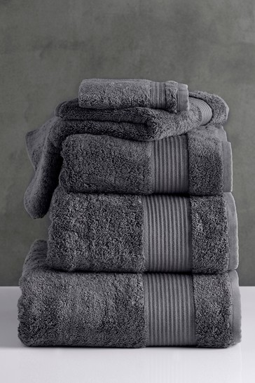 Charcoal Grey Egyptian Cotton Towels