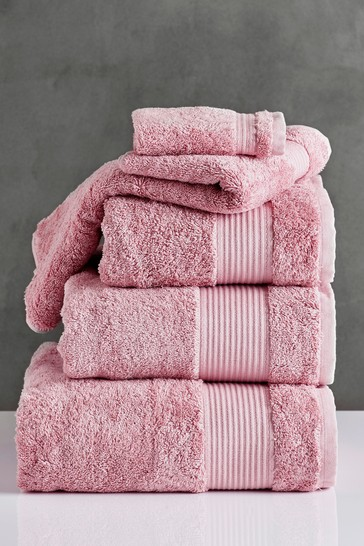 Dusky Pink Egyptian Cotton Towels