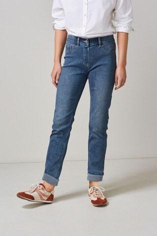 Mid Blue Water Resistant Slim Jeans