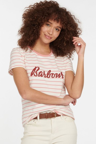 Barbour® Coastal Pink Stripe Keilder T-Shirt