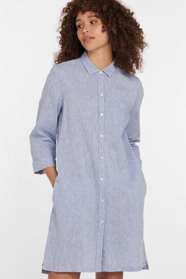 Barbour® Coastal Chambray Seaglow Shirt Dress