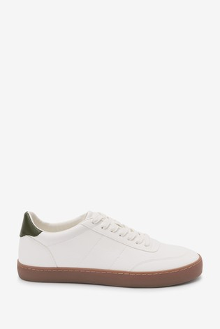 White/Green Tab Trainers
