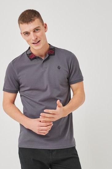 Charcoal Smart Collar Polo Shirt
