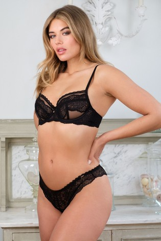 Lace Non Padded Wired Balcony Bra