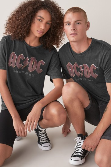 Black ACDC Regular Fit Licence T-Shirt