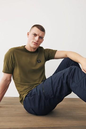 Khaki Green Badge T-Shirt