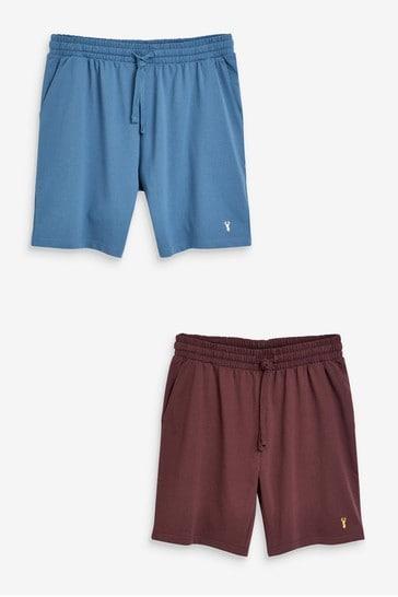 Blue/Plum Lightweight Shorts 2 Pack