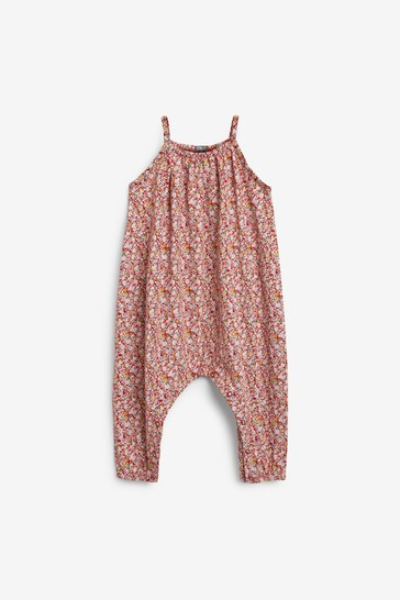 Red Ditsy Jersey Playsuit (3mths-7yrs)