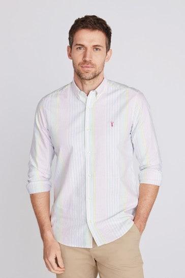 Pink/Blue/Green/Yellow Slim Fit Long Sleeve Oxford Shirt