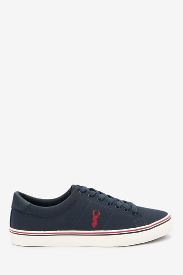 Navy Blue Waste2Wear Recycled Canvas Stag Trainers