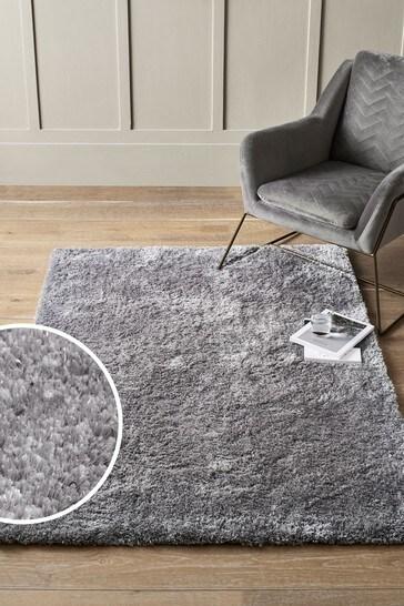 Silver Grey Super Soft Lumi Rug
