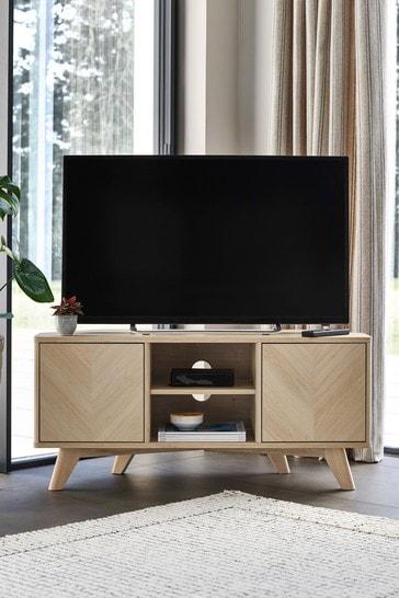 Anderson Oak Effect Corner TV Stand