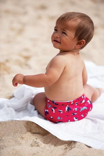 Frugi By Totsbots Pink Puffin Reusable Swim Nappy