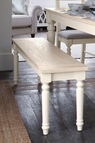 Dorset White Dining Bench by Laura Ashley