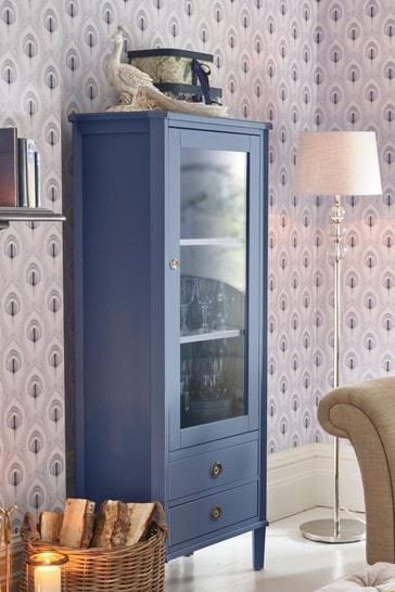 Henshaw Dusky Seaspray 1 Door 2 Drawer Display Unit by Laura Ashley