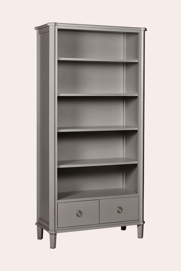 Henshaw Pale Charcoal 2 Drawer Single Bookcase by Laura Ashley