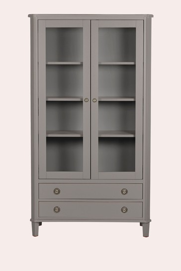 Henshaw Pale Charcoal 2 Door 2 Drawer Display Unit by Laura Ashley