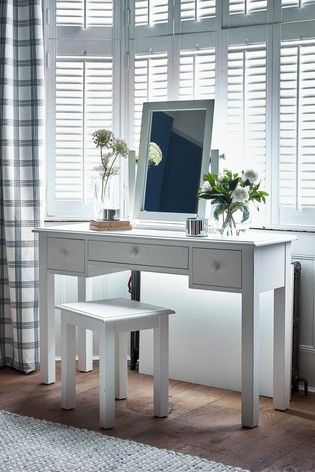 Ashwell Cotton White Dressing Table Mirror by Laura Ashley