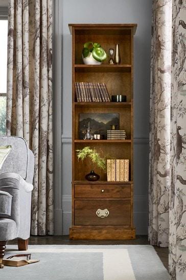 Garrat Dark Chestnut 2 Drawer Single Bookcase by Laura Ashley