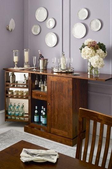 Garrat Dark Chestnut Drinks Cabinet by Laura Ashley