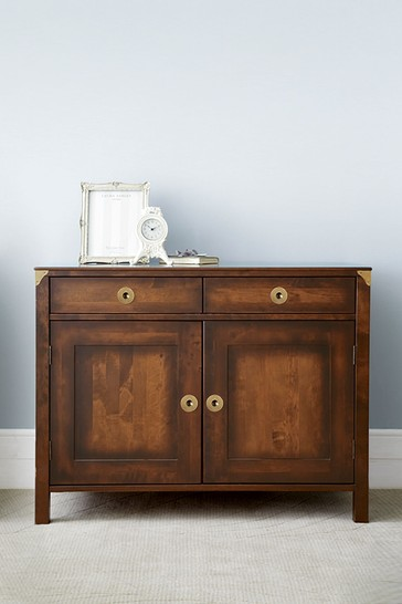 Balmoral Dark Chestnut 2 Door 2 Drawer Sideboard by Laura Ashley