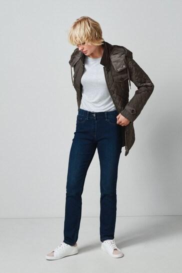 Dark Blue Water Resistant Slim Jeans