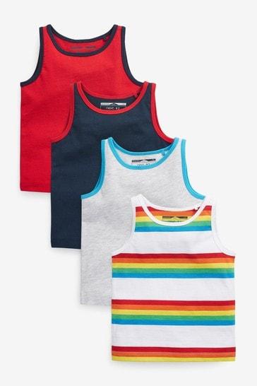 Rainbow 4 Pack Vests (3mths-7yrs)