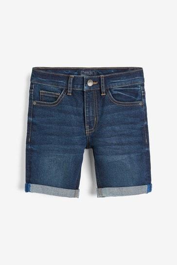 Dark Blue Regular Fit Denim Shorts (3mths-16yrs)
