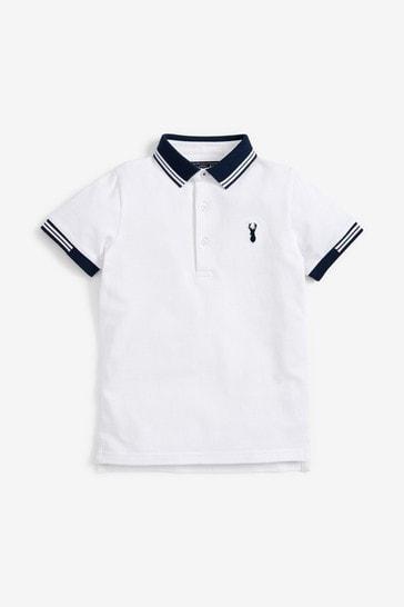 White Tipped Polo Shirt (3-16yrs)