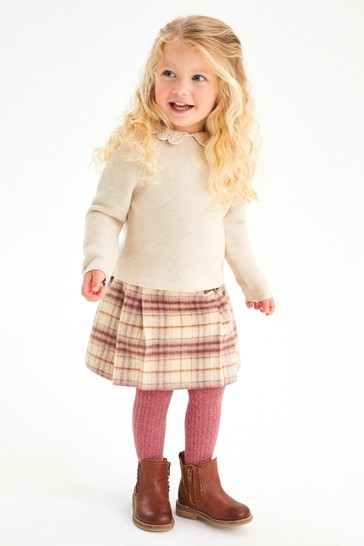 Pink Younger Girls Kilt And Tights Set (3mths-10yrs)
